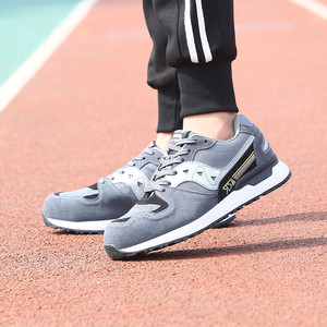 Image 5 - DEWBEST גברים של נעלי בטיחות הבוהן פלדה בנייה הנעלה מגן קל משקל 3D עמיד הלם עבודה Sneaker גברים