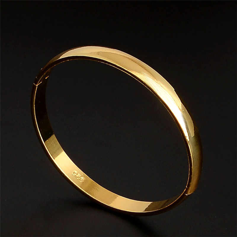H:HYDE New jewelry gold Color charming smooth unsex's bangle bracelet jewelry for women men hand jewelry pulseiras