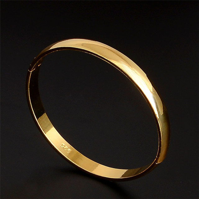 fbaf8b20b H:HYDE New jewelry gold Color charming smooth unsex's bangle bracelet  jewelry for women men hand jewelry pulseiras