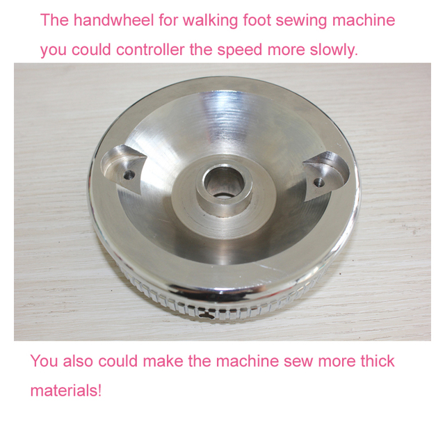 Balance wheel/handlewheel for walking foot sewing machine