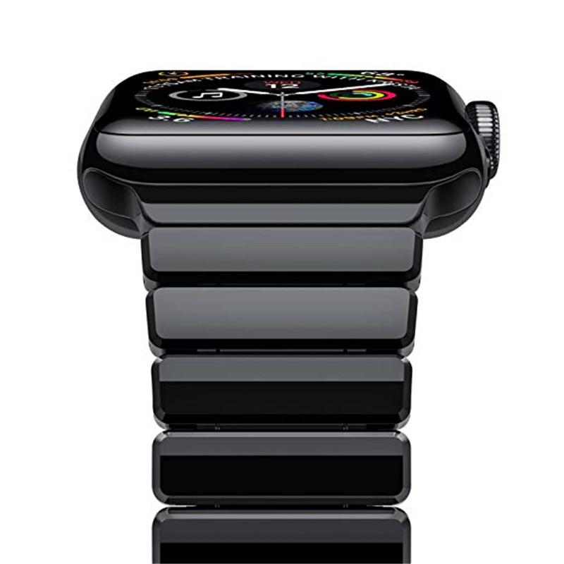 คลาสสิกผู้ชายสายคล้องคอโลหะสำหรับ Apple watch band 4 44/40 มม. สแตนเลสสำหรับ iWatch series 3 2 1 42/38mm-ใน สายนาฬิกา จาก นาฬิกาข้อมือ บน AliExpress - 11.11_สิบเอ็ด สิบเอ็ดวันคนโสด 1