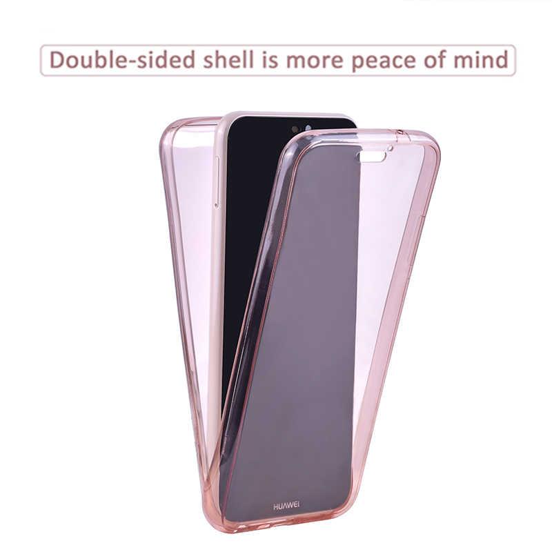 360 Tam Vücut TPU silikon kılıf Için Huawei p20 Pro p10 p8 p9 Lite 2017 2016 p akıllı Kılıf için onur 8 Lite Temizle Case
