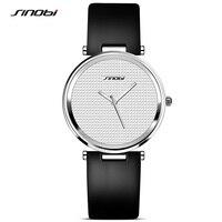 SINOBI Fashion Women Watches 2018 Leather Watchband Top Luxury Brand Female Dress Quartz Clock Ladies Wristwatch