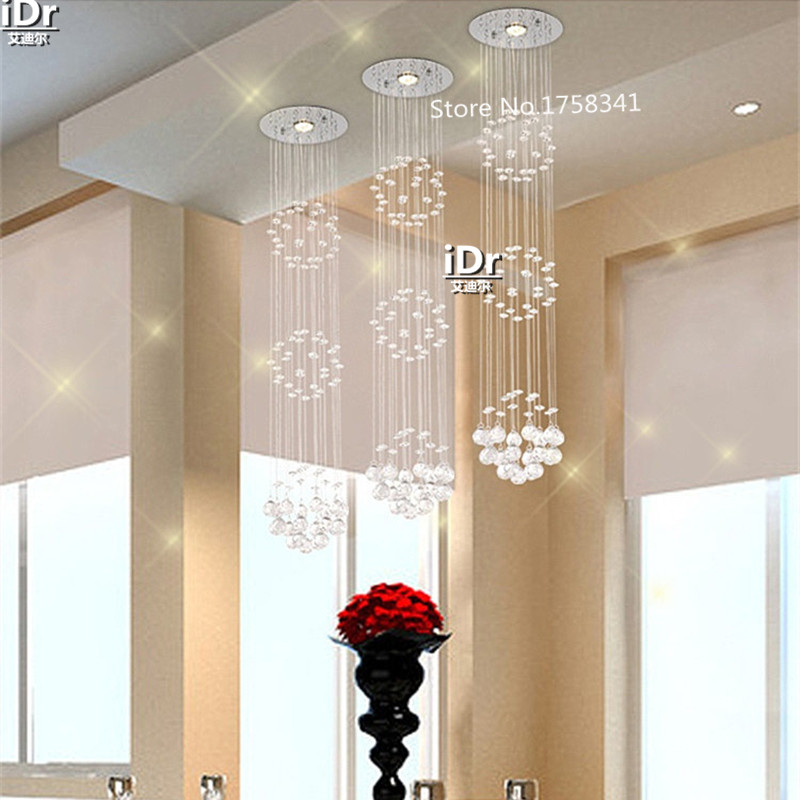 modern simple Spiral crystal LED energy saving chandelier lights Bedroom lamp Hall Upscale atmosphere crystal Light