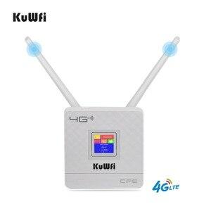 Image 2 - KuWFi 300Mbps kablosuz yönlendirici 4G Wifi Wifi SIM kartlı Router yuvası ve RJ45 Port çift harici antenler ev için