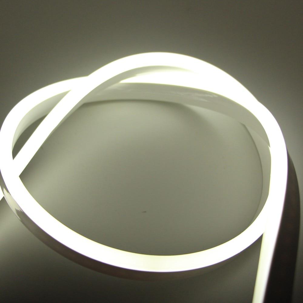 Л/ч, 15 м, 20m25m водонепроницаемый AC220V светодиодный неоновый свет 2835 гибкий + Мощность штепсельной вилки напольная декоративная полоска - 3