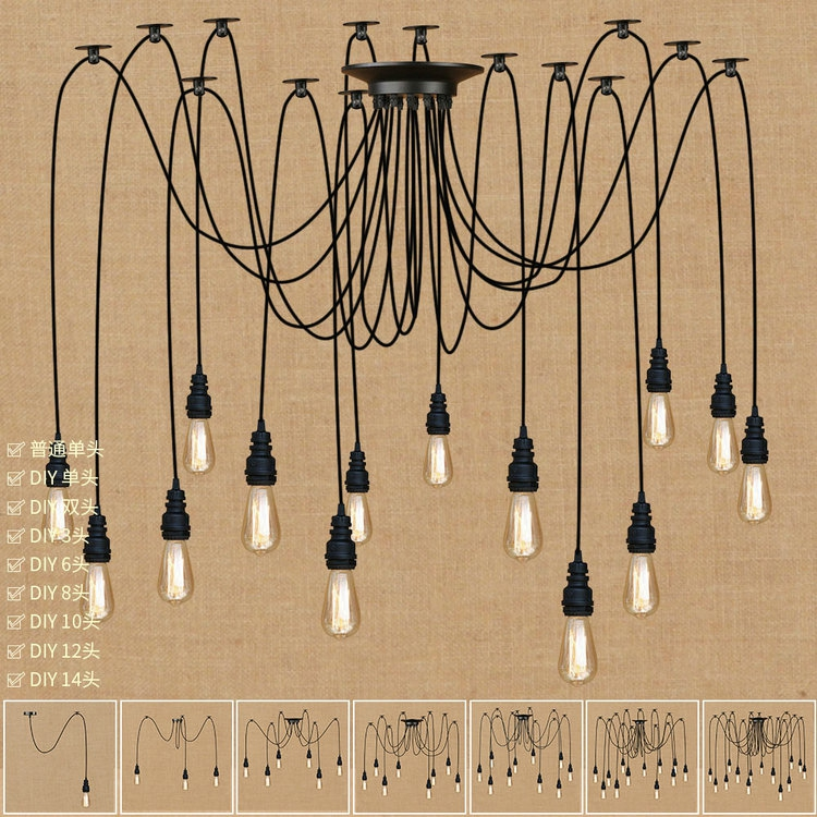 The Nordic postmodern contracted wind American country cafe clothing store hall Long and black pipe droplightThe Nordic postmodern contracted wind American country cafe clothing store hall Long and black pipe droplight
