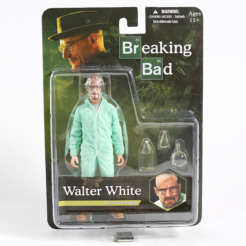MEZCO Breaking Bad Heisenberg Walter White In Green Hazmat Suit PVC Figure Collectible Model Toy image