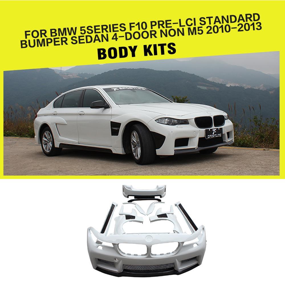 FRP Racing Car body Kits Bumpers Styling for BMW 5 Series F10 LCI 520i 528i 530i Sedan 4 Door 2011   2016|body kit|car body kit|frp body kit - title=