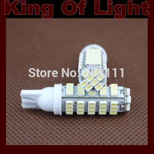 120X Car Auto LED 194 W5W 68SMD T10 68 leds smd 3020 Wedge LED Light Bulb Lamp White Free shipping 2 x car ultra pure white 8 led 3020 smd t10 w5w bulb wedge side light bulb lamp