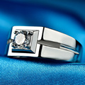 LIAMTING New Fashion High Quality 925 Sterling Silver Men Ring With 5A Cubic Zircon Wedding Ring Jewelry VB052