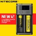Original 2016 Nueva i2 Nitecore Cargador de Batería Inteligente Max 1A de Salida con Indicador de batería de Iones de Litio LiFePO4 Ni-MH Batería de NiCd