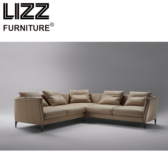 Corner Sofas Loveseat Chair Sofa Para Sala Living Room Furniture Modern Design Scandinavian Feather Leather