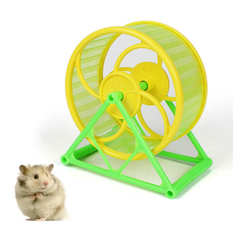 Pet Hamster Jogging Rat Hedgehog Small Pet Exercise Toys Sports Wheel  Pet Silent Cage Toy Hamster Cage Hamster Accessories