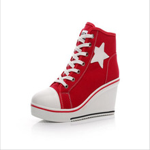 new Women Vulcanize Shoes Platform Breathable Canvas Shoes Woman  Sneakers Casual Fashion Candy Color Students canvas shoes women platform shoes fashion woman breathable all women casual shoes star platform creepers canvas shoes canvas i