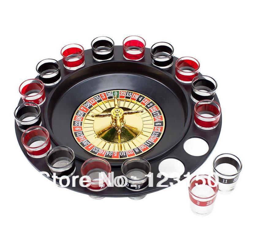 RS-001 New Roulette Drinking Game With Casino Spin Shot Glass Party Fun Game