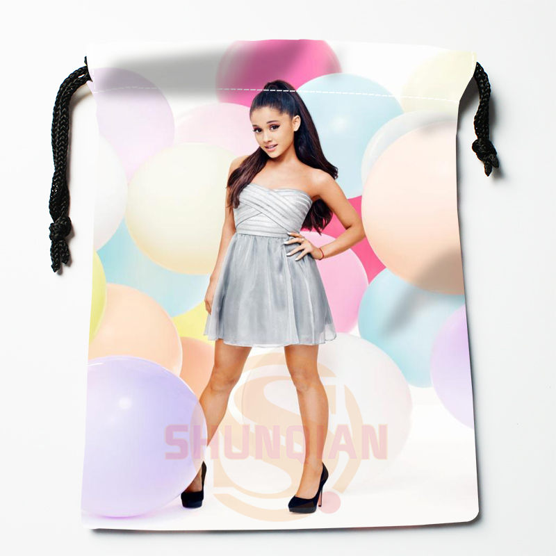 New Ariana Grande Printed Storage Bag 27x35cm Satin Drawstring Bags Compression Type Bags Customize Your Image Gifts