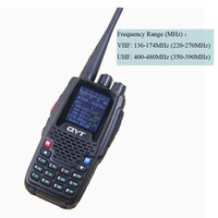 QYT New KT8R 4 Band UHF VHF 136 147Mhz 400 470mhz 220 270mh 350 390mhz Quad Band Handheld Two way radio Ham Transceiver KT 8R