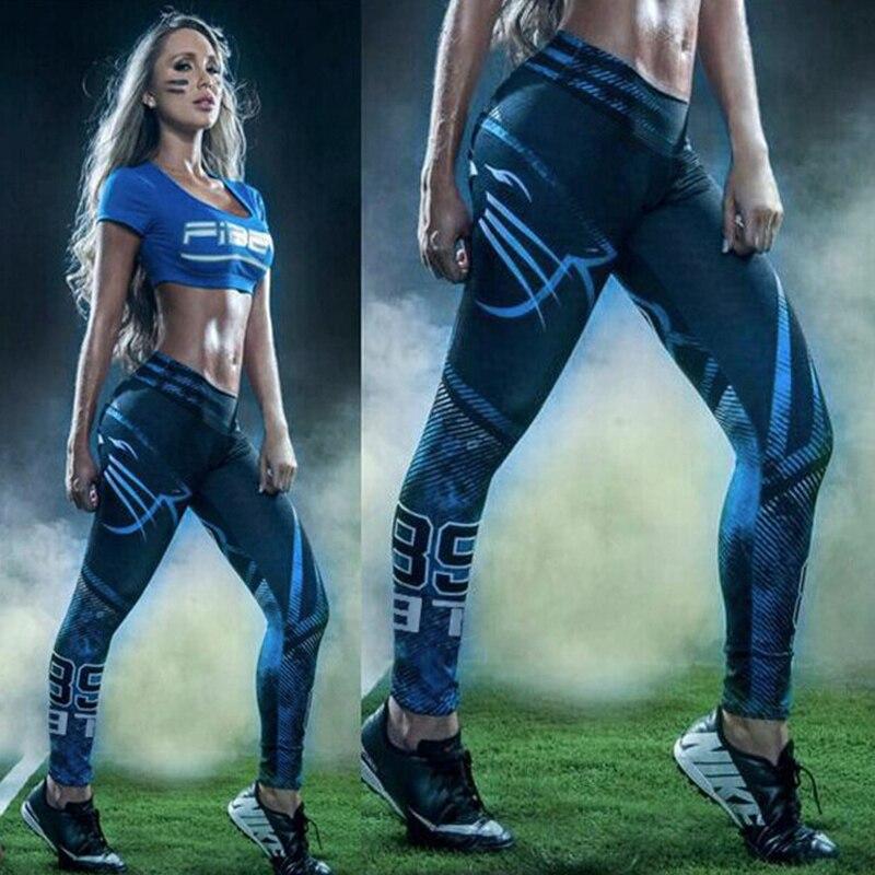 2016 Women American Football Pattern 3d Leggings Stretch: Hot Sale Women Harajuku Sport Leggings Running Gym 3D