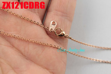 """16"""" 38"""" length rose gold color 1.5mm cross chain stainless steel necklace add tag welding chain  fashion jewelry 20pcs ZX121CDRG"""