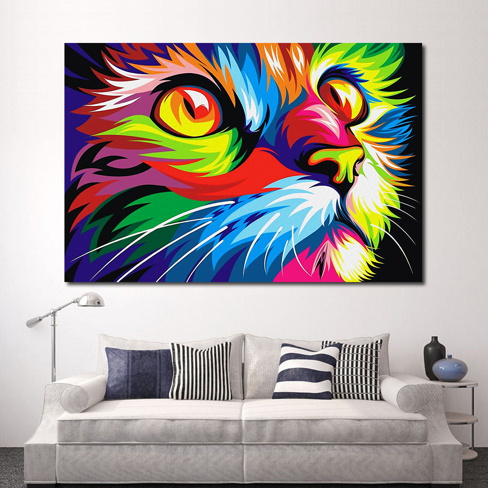 JQHYART Canvas Oil Painting Wall Decor Animales Vectoriales Wahyu Romdhoni Modern No Frame Canvas Print Decorative Pictures