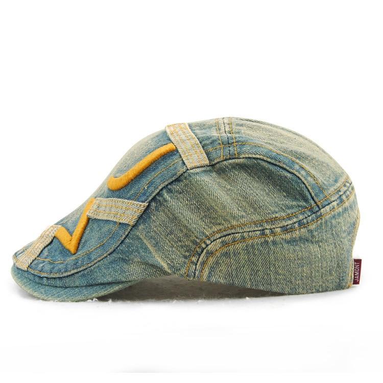 ce66aa42619d5 Male Pure Cotton Peaked Cap Men Sun Hat Adult Outdoors Newsboy Caps Men Ivy  Hat Women Fashion Wash old Denim Berets - us269