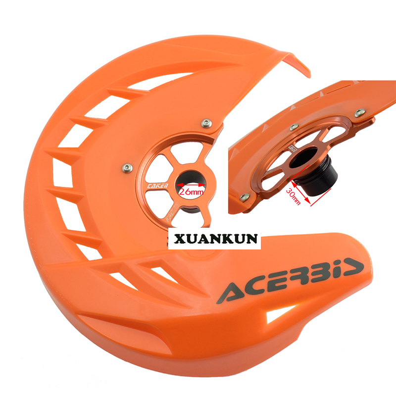 XUANKUN  Off-Road Vehicle Modified KTM / SX / SX-F / XC / XC-F / EXC / EXC-F Front Disc Brake Case Protective Cover xuankun ktm 250 xtr250 off road motorcycle full set of plastic shells