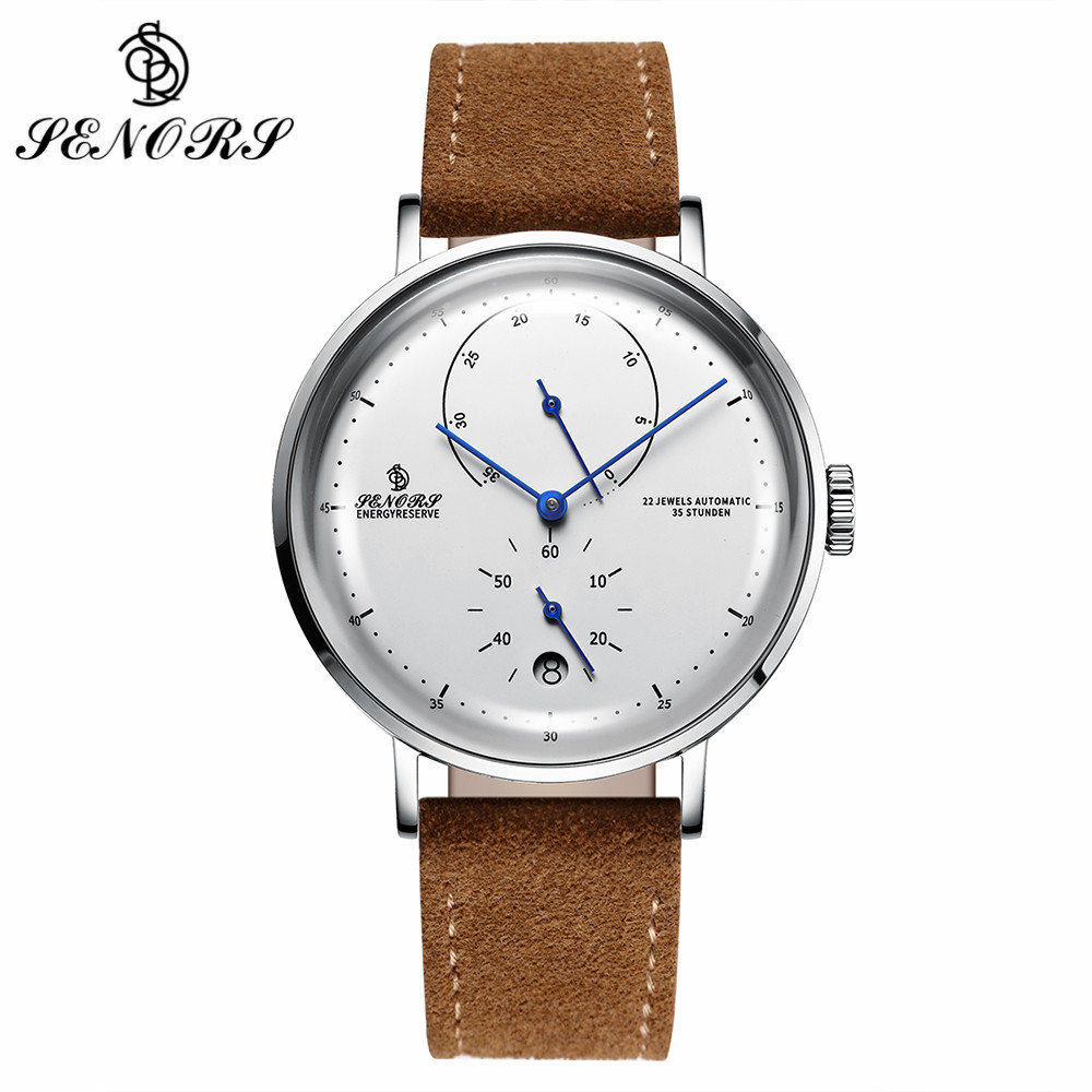 SENORS Fashion Men Automatic Watches Calendar Display Multifunction Stainless Steel Mechanical Wristwatch Waterproof Male ClockSENORS Fashion Men Automatic Watches Calendar Display Multifunction Stainless Steel Mechanical Wristwatch Waterproof Male Clock