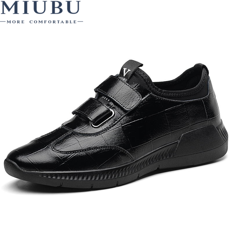 MIUBU High Quality Men Shoes Casual Sneakers Genuine Leather Fashion Footwear Male Cool
