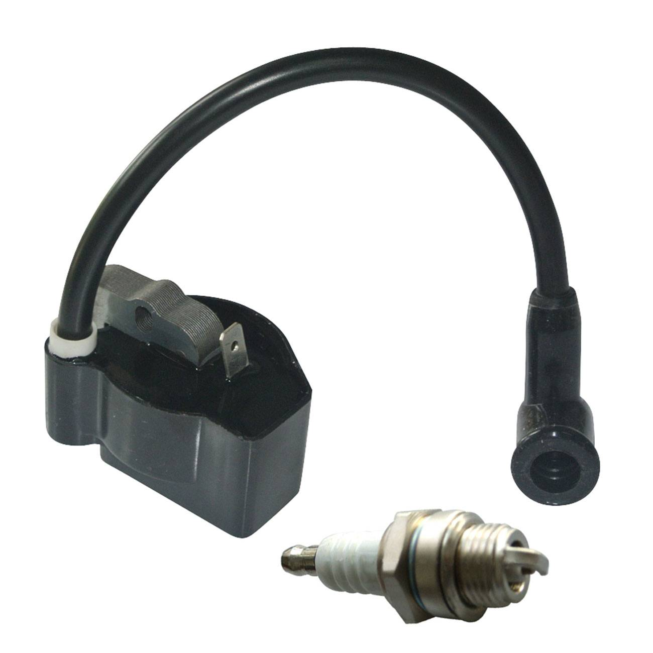 Spark Plug  Ignition Coil For STIHL FS38 FS45 FS46 FS55 KM55 Brushcutter Trimmer