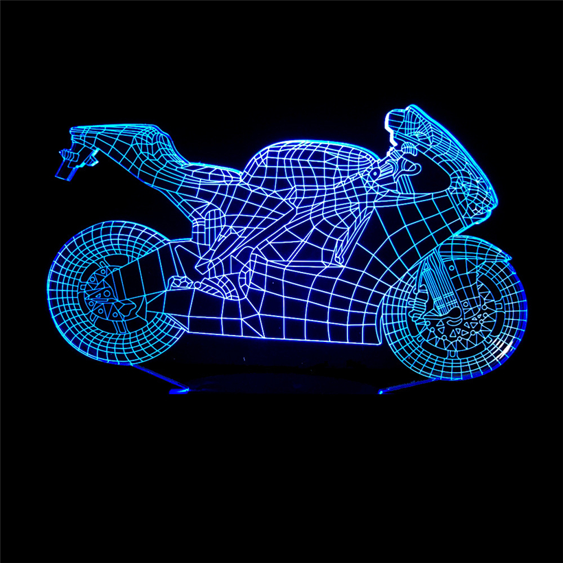 motorcycle 3D night light (1)