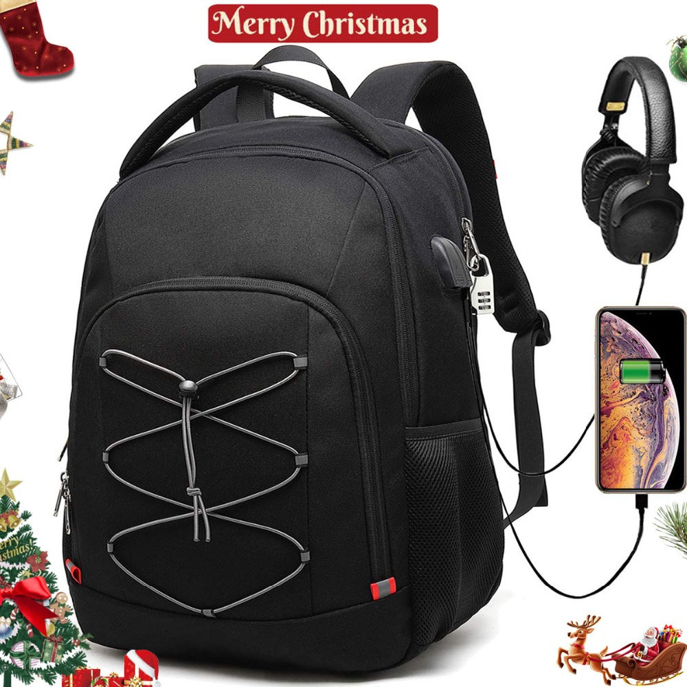 59e18d3885ae US $32.99 45% OFF|XQXA Laptop Backpack Anti Theft Travel Backpack Bag USB  College School Computer Rucksack Bag for Men 17 Inch Laptop and Notebook-in  ...