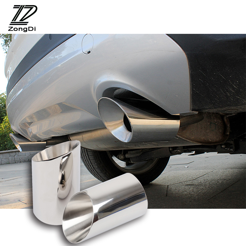 Stainless Steel Car Exhaust Muffler Tips Pipe Auto Accessories For Ford Kuga Escape Accessories 2013 2014