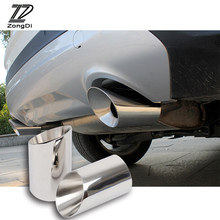 Stainless Steel Car Exhaust Muffler Tips Pipe Auto Accessories For Ford Kuga Escape Accessories 2013 2014 2015 2016 2017