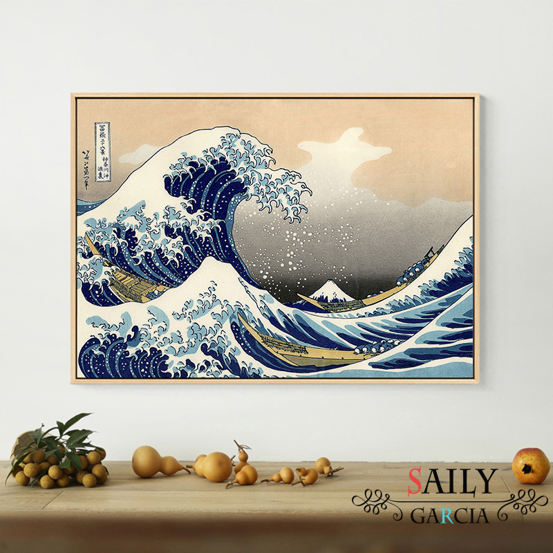 HTB1aKk6d81D3KVjSZFyq6zuFpXay Hd Print Canvas Paintings Japanese Style Traditional Posters Wave Kanagawa Vintage Wall Art Picture For Living Room Home Decor