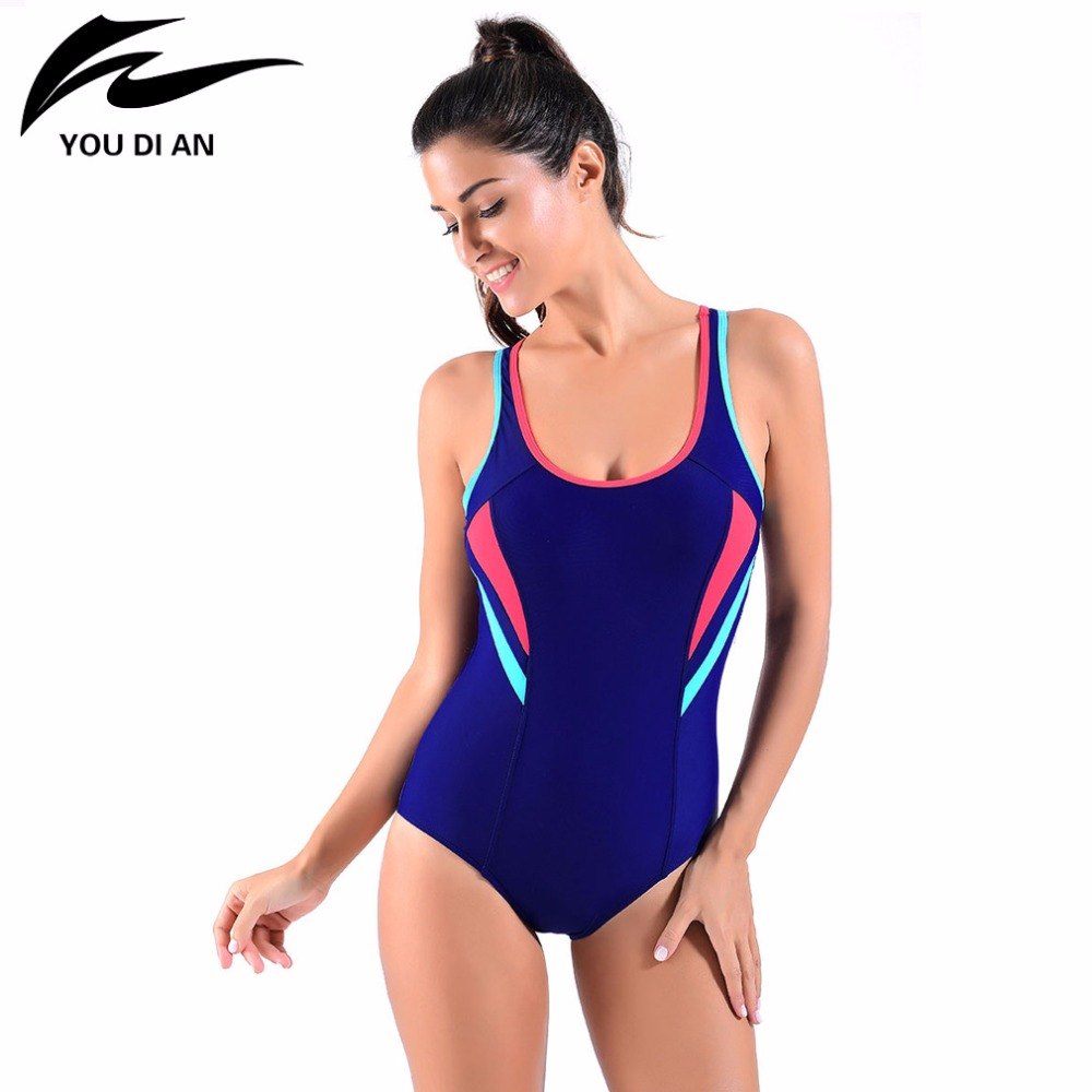 Star Printed Women One Piece Swimsuit Professional Sports Swimwear Racing Competition Female Bodysuit Quick Dry Bathing Suit phinikiss printed racing swimwear large size one piece suit professional swimsuit sport bathing suit competition 2016 triathlon