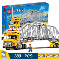 389pcs City Heavy Loader parallel Truck 02041 Model Building Blocks Children Assemble Toy Bricks Collection Compatible With lego