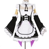 Anime Re Zero Kara Hajimeru Isekai Seikatsu Life In A Different World Ram Rem Cosplay Maid