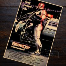 RoboCop vaguely fictional Sci-Fi Movie Film Vintage Retro Decorative Frame Poster DIY Wall Canvas Stickers Home Posters Home Dec(China)
