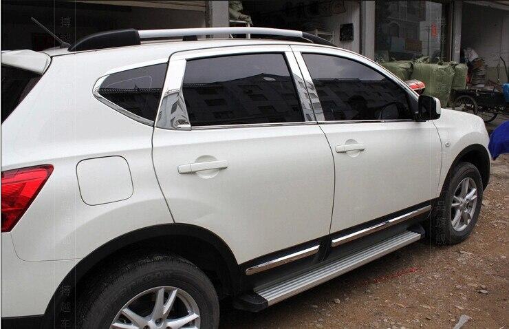 Высококачественная нержавеющая сталь автомобиль окно отделка полоска (16шт) за 2007-2012 Кашкай 5-дверный