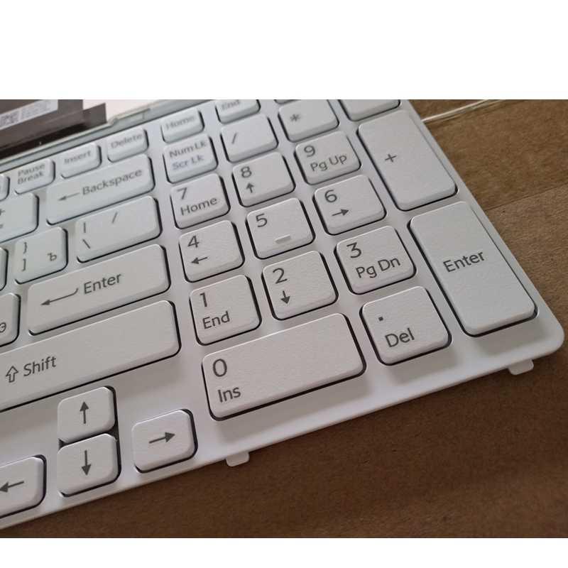 GZEELE Русская клавиатура для ноутбука sony vaio SVE17 SVE1711 SVE1712 SVE1713 SVE1712L1E SVE1713G1EW SVE1711C5E SVE171C11 белый RU