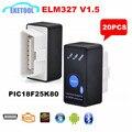 Interrupteur électrique V1.5 ELM327 | Équipement  essence  multi-voitures OBD/OBD2 CAN-BUS ELM 327 Android/PC  vrai routeur  20 pièces/lot
