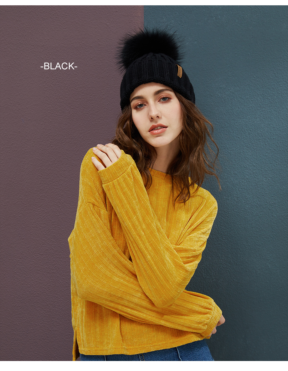 Real Raccoon Fur Pom Poms Beanies Winter Hat Female For Women Knitted Cotton Thick Cap 2018 New Fashion Warm Beanie Hot Selling (7)