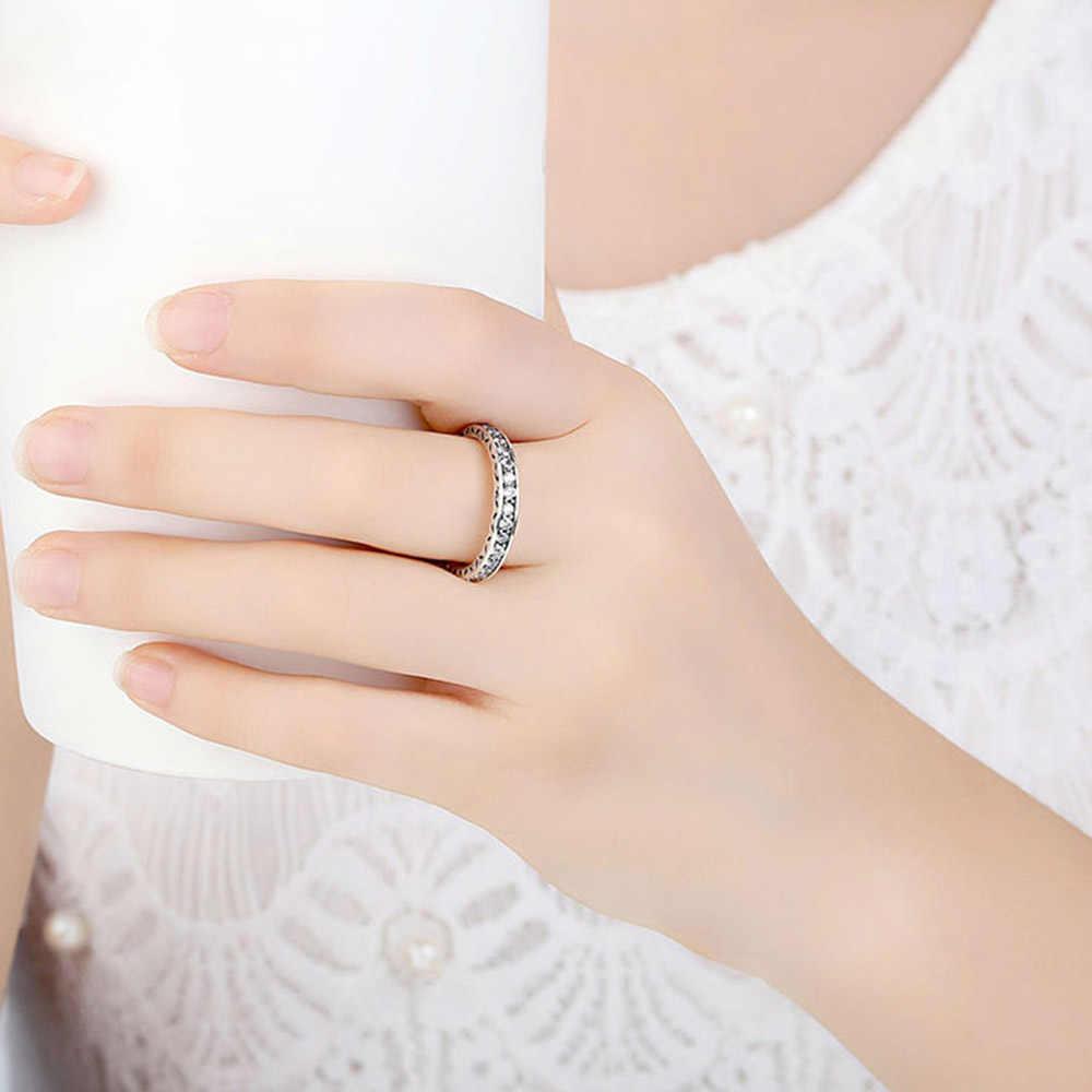 Bijoux de mode pour femmes S925 bague en argent Sterling diamant anneau de doigt classique