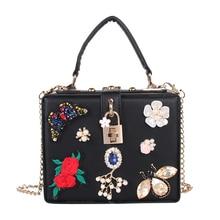 Baile de moda bolso de noche bolso del banquete del Bolso de Embrague hueco alivio de Acrílico de flores de diamantes de lujo del partido bolso de las mujeres bolsa de Hombro