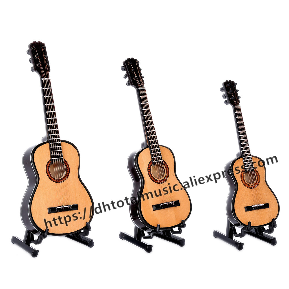 Wooden Handcrafted Miniature Guitar Model Guitar Display With Case