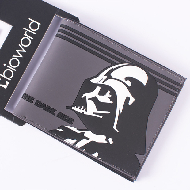 Comics DC Marvel Men Wallets New Fashion PVC Purse carteira masculina Anime Star Wars Short Wallet carteira Branded Dollar Bags baellerry small mens wallets vintage dull polish short dollar price male cards purse mini leather men wallet carteira masculina