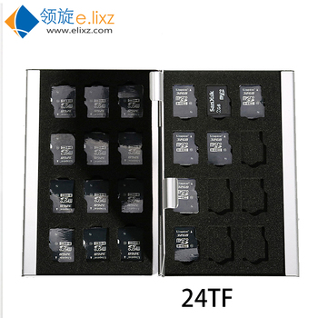 2017 Silver Rushed Sale Ps Vita 24 In 1 Aluminum Storage Box Bag Memory Card Case Holder Wallet Large Capacity For 24* Microsd