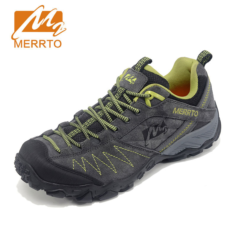 MERRTO Outdoor Running Shoes Men Genuine Leather Sports Sneakers Men Breathable Running Shoes Athletic Jogging Shoes Mans mulinsen brand new autumn men running shoes outdoor sports shoes breathable jogging training sneakers 270102