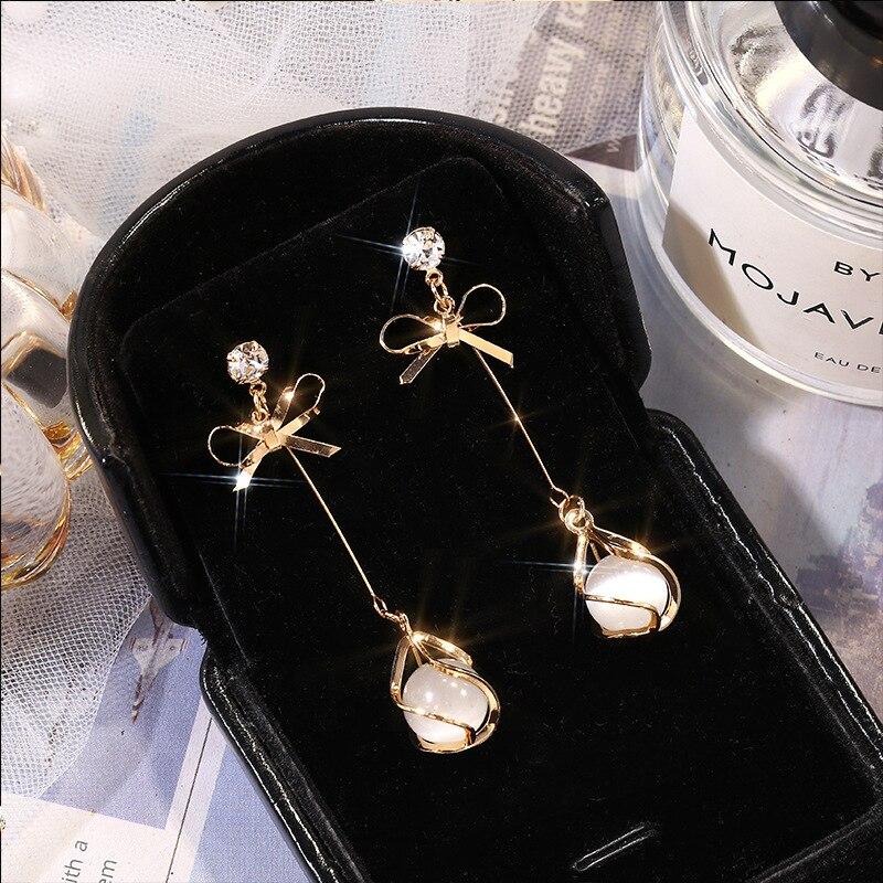 New Arrival Fashion Metal Trendy Water Drop Women Dangle Earrings Simple Korean Jewelry Female Long Pendant Eardrop